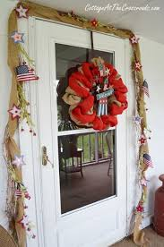 Fourth Of July Door Decorations Fourth Of July Wreath And Door Display
