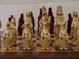 ancient chess set berkeley chess ltd royal beasts chess set ivory and red 0