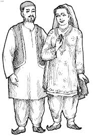 dresses of india coloring pages kids website for parents
