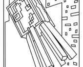coloring pages best minecraft squid and spider coloring pages