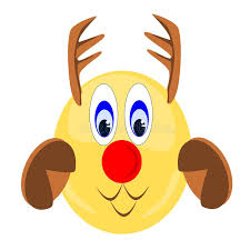eps format vs jpeg emoji reindeer with antlers hooves and red nose stock vector