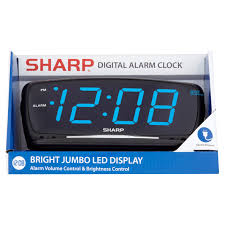sharp bright jumbo led display digital alarm clock walmart com