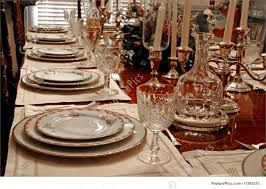 Formal Table Settings Served Tables Formal Place Setting Stock Image I1383210 At