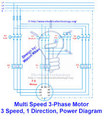 3 phase motor 3 spped 1 direction power diagram electronica