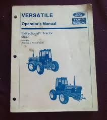 versatile new holland 9030 operators manual bidirectional tractor