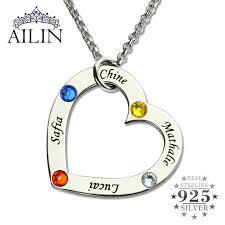 heart necklace wholesale images Online shop wholesale birthstone heart necklace in silver jpg