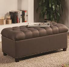 furniture luxury tufted storage bench for modern seat design