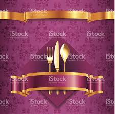 luxury menu template with golden cutlery stock vector art