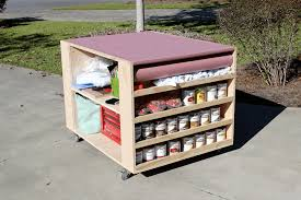 Free Plans To Build A Woodworking Bench by Diy Portable Workbench With Storage Free Plans