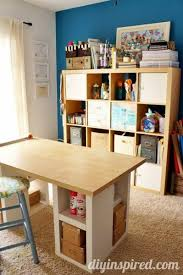 Craft Room Tables - diy inspired craft room tour diy inspired