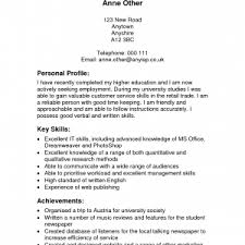 cv personal profile example job and resume template cv example