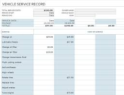 Vehicle Service Sheet Template by Vehicle Service Record Office Templates