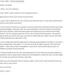 cover letter for architect technical architect cover letter exle icover org uk