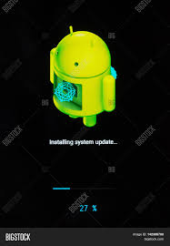 android system update android installing system update image photo bigstock