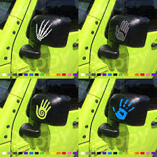 jeep wave sticker mirror two jeep wave mirror sticker vinyl graphic decal wrangler jk tj yj