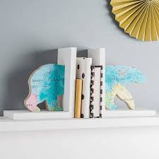 glamorous bear bookend wood0 material maps details white fnish
