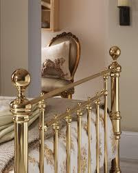 Small King Size Bed Frame serene benjamin 6ft super king size brass metal bed frame by