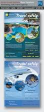 world travel tourism marketing flyer template u2014 photoshop psd