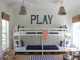 Bedroom Entrancing Shared Kid Bedroom Decoration Using Four White - Ikea wooden bunk beds