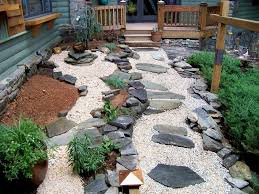 image of rock garden patio ideas and design inside landscaping