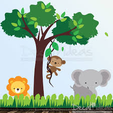 Jungle Wall Decal For Nursery Jungle Wall Decals Idea Design Idea And Decorations Baby Room
