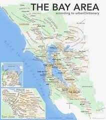 Bay City Michigan Map by The Bay Area Map Urban Dictionary Style U2014 Pete Alexander San