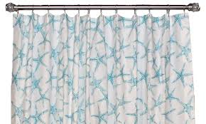 Turquoise Shower Curtain Beach Star Shower Curtain Rlf Home