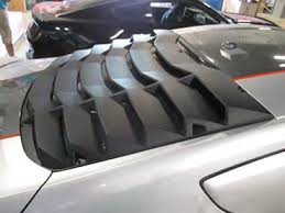 mustang rear louvers how to install mmd abs rear window louvers on your 2015 2016