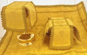 chalice veil gold aer and chalice veil set st tikhon s bookstore press