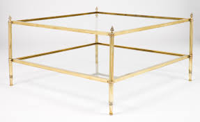 brass glass coffee table