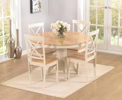 round dining table 4 chairs elstree 120cm oak and cream round dining table 4 chairs swagger inc