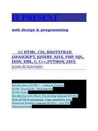 tutorial css php html css bootstrap javascript jquery ajax php sql json xml