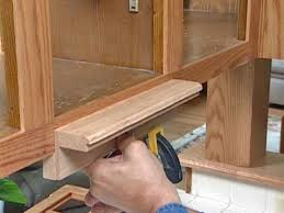 Refinishing Kitchen Cabinets With Stain How To Reface And Refinish Kitchen Cabinets How Tos Diy