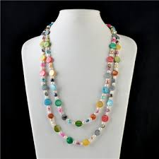 shell pearl necklace wholesale images 60 inch long multicolor shell beads freshwater cultured pearl jpg