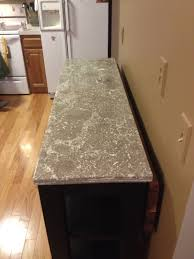 custom pressed concrete countertop for that veined marble style