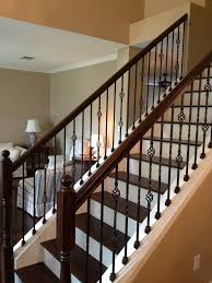 Wood Banisters And Railings Stylish Wrought Iron Stair Spindles Http Www Tommycoma Com