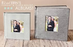 Best Wedding Photo Albums Rj Erin U0027s Parent Album U0026 Flush Mount Album Bend The Light