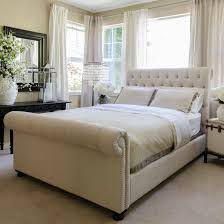 bedrooms fill your bedroom with remarkable tufted sleigh bed for