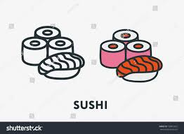 cuisine concept japanese seafood cuisine concept sushi roll เวกเตอร สต อก 736815022
