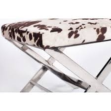 Cow Home Decor Decor Alluring Iconic Home Diddle Cow Print Ottoman Polished