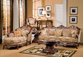 victorian living room decor brown leather sectional sofa features