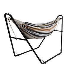 sunnydaze decor hh mhs black universal heavy duty hammock stand 2