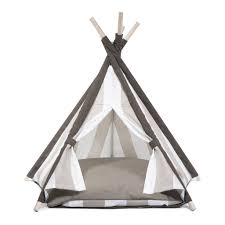House Dogs by Designer Pet Teepee Tent With Matching Cushion Bed Sandy Beach