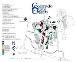 Map Of Colorado State by Colorado State University Pueblo Campus Map 2200 Bonforte Blvd