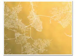 Charleston Sc Map Charleston Map Gold Foil Map Of Charleston Sc Gold Foil