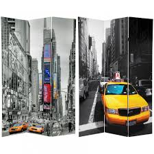 oriental room dividers 6 ft tall double sided new york taxi room divider roomdividers com