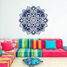 Moroccan Pattern Art Moroccan Wall by Wall Decal Mandala Flowers Wall Art Decor India Bohemian Moroccan