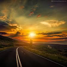 wallpaper road 5k 4k wallpaper 8k clouds sunset nature 12465