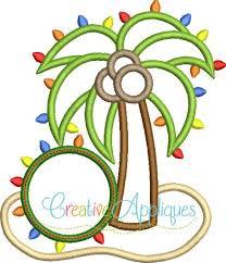 monogram christmas christmas palm tree monogram applique creative appliques