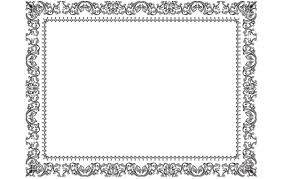 vintage ornamental frame design vector
